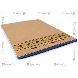 Блокнот на пружине с обложкой на эко-бумаге