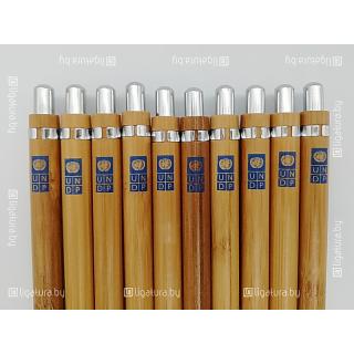 Тампопечать на бамбуковых ручках