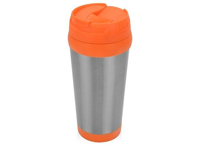 серебристый/оранжевый