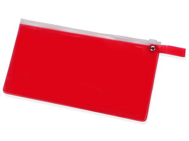 красный прозрачный/белый